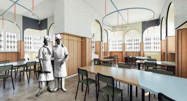 il nuovo ristorante liberamensa allinterno della casa circondariale lorusso e cutugno ex carcere delle vallette di torino i progettisti andrea marcante
